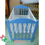 Picture of Giường cũi XĐ màu trắng xanh
