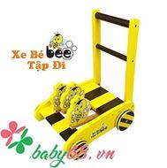 Picture of Xe tập đi bằng gỗ hình con ong - Bee