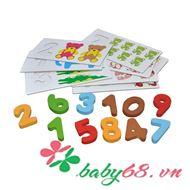 Picture of Bộ đồ chơi học số Arithmetic digital card 5824