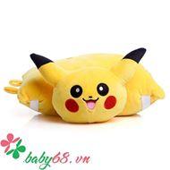 Picture of Gối đỡ đầu hình thú mềm mại cho bé đi xe máy Pokemon