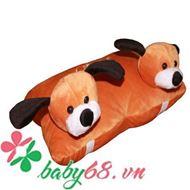 Picture of Gối xe 2 đầu hình chó con