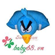 Picture of Gối xe 1 đầu hình angry birds xanh