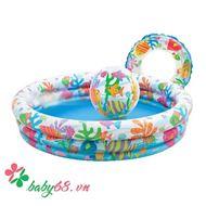 Picture of Bộ 3 bể bơi, phao bơi, bóng hơi Intex 361022