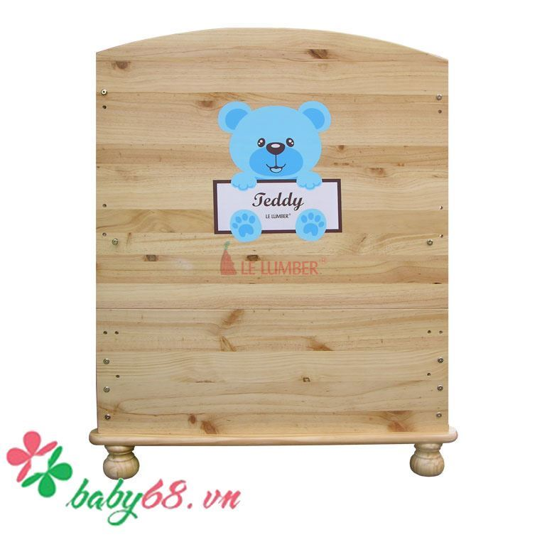 Picture of Giường cũi Teddy gỗ màu Tự Nhiên (mẫu 2016)