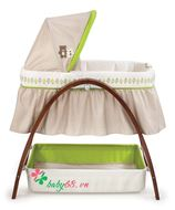 Picture of Nôi rung Summer SM26070 | Bentwood Bassinet With Monitor Baby