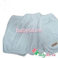 Quần sơ sinh Lullaby cộc (trắng) - Baby68.vn