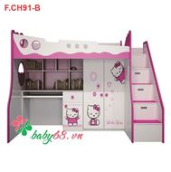 Picture of Giường tầng 3 trong 1 Hello Kitty GT10
