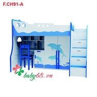 Picture of Giường tầng Cá heo 3 trong 1 F.CH91-A