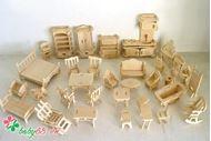 Picture of Bộ 2 đồ chơi ghép hình gỗ 3D sáng tạo 184 chi tiết x 2