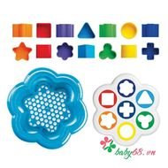 Picture of Đồ chơi Quercetti-Italy - Thả khối nhựa Daisy Shape Sorter 0242