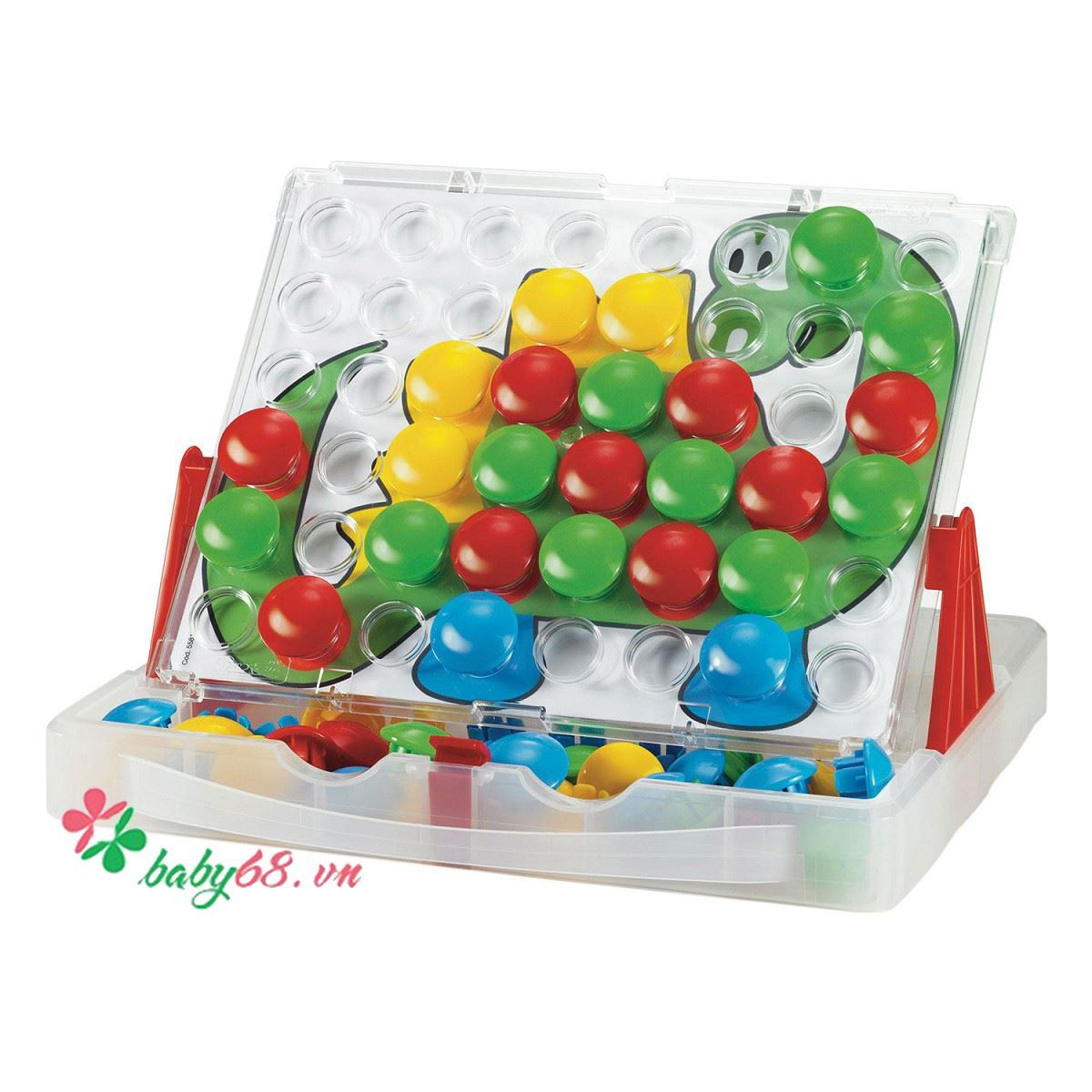 Picture of  Đồ chơi Quercetti-Italy - Xếp hình con thú Fantacolor Junior 4190