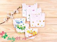 Picture of Combo 03 bộ quần áo ngắn họa tiết hoa, trái cây bé gái