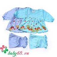 Picture of Combo 02 bộ đồ dài họa tiết trái cây bé gái