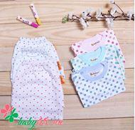 Picture of Combo 3 quần Babee ngắn cotton chấm bi + 3 áo chấm bi tay dài bo cài nút vai