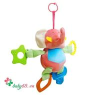 Picture of Đồ chơi bông mềm treo cũi, xe đẩy, ô tô, kèm gặm nướu, hình voi - TO37V13