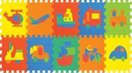 Picture of Đồ chơi trẻ em bằng xốp – Thảm ghép hình phương tiện giao thông 10 miếng (1007)