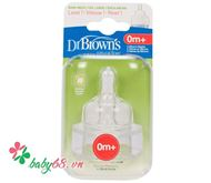 Picture of Núm ty Dr Brown's (cổ rộng, silicone BPA free)