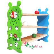 Picture of Đồ chơi gỗ banh lăn zíc zắc hình sâu Winwintoys 67092