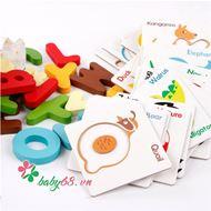 Picture of Bộ thẻ chữ cái 3D cho bé tập ghép từ vựng tiếng Anh thông minh