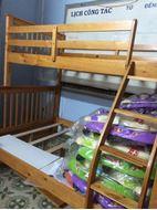 Picture of Giường tầng gỗ 1m4 màu vàng - thanh lý