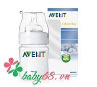 Picture of Bình sữa Avent 125ml (thiết kế cổ điển, nhựa PP)