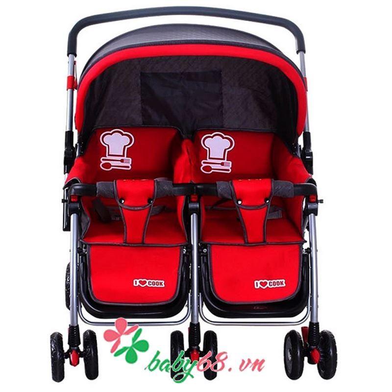 xe đẩy đôi cho bé 703A