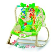Picture of Ghế rung Fisher-Price BJL39 Rainforest Friends Infant-to-Toddler Rocker