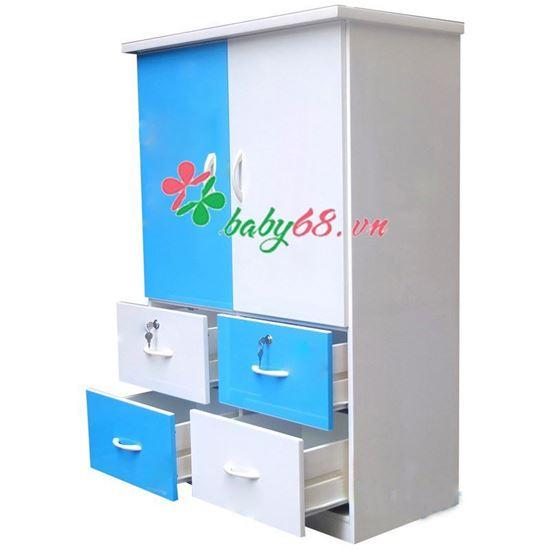 Tủ Nhựa Đài Loan 2 Cánh 4 Ngăn