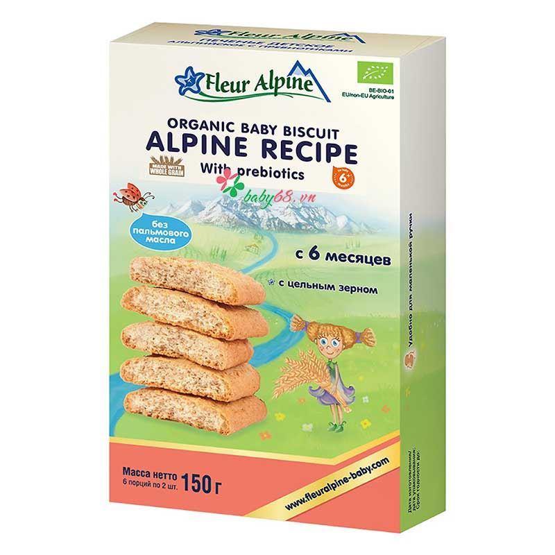 Picture of Bánh ăn dặm Organic Alpine Prebiotic Fleur Alpine (150g)