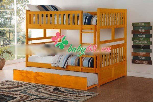 Picture of Giường hai tầng 1m4  BB015 kèm hộc nằm nhiều màu